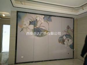 高端UV打印+软包电视背景墙